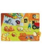 Puzzles en bois Djeco pour enfants