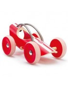 Cars, motorcycles and wooden Hape aircraft