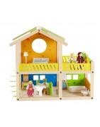 Case delle bambole Hape e Djeco accessori e mobili